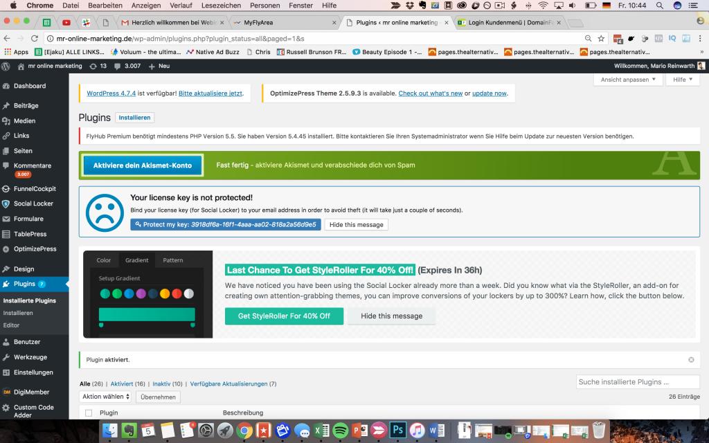 Webinarfly benötigt PHP Version 5.5
