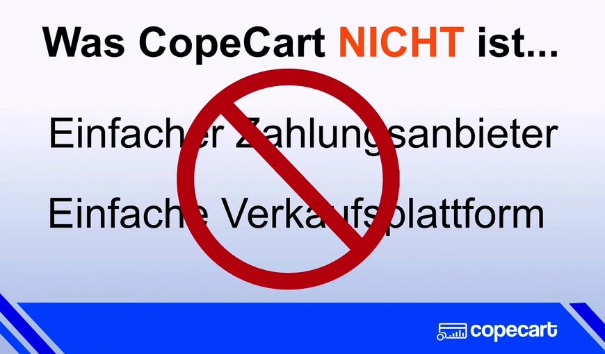 Was CopeCart nicht ist