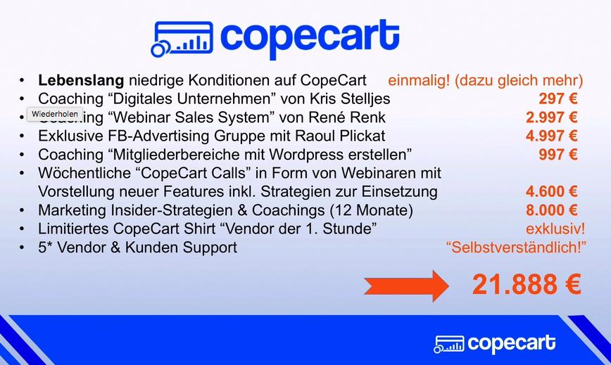 CopeCart Leistungsumfang