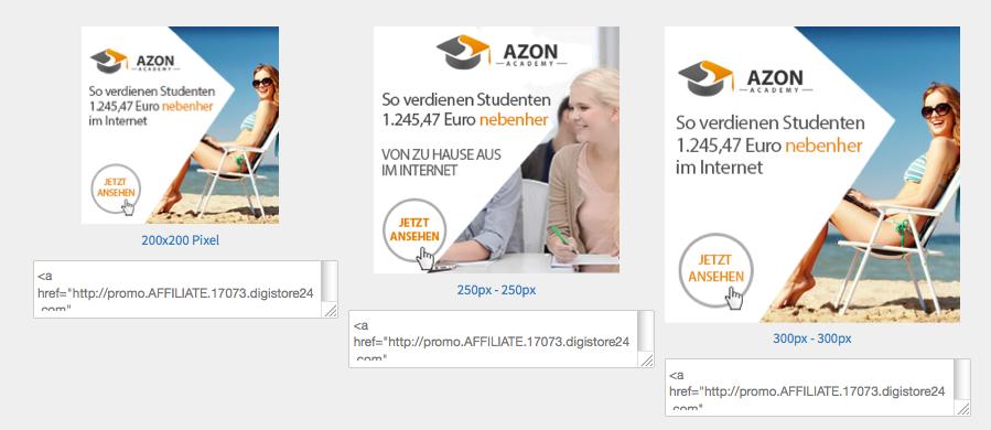 Werbemittel für die AzonAcademy