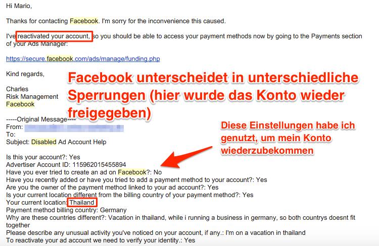 Facebook Werbekonto aus dem Ausland führen