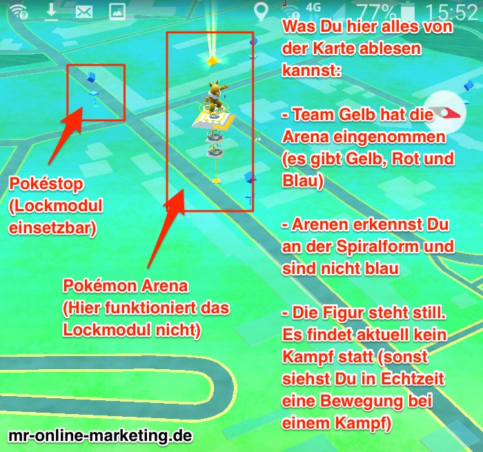 Pokémon Go Marketing - Was ist eine Arena?