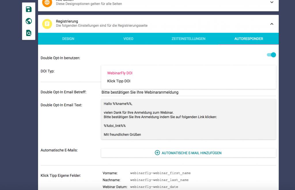 Webinarfly Anbindungen