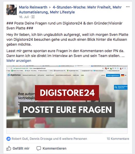 Sven Platte Digistore24 Fragen aus der Community