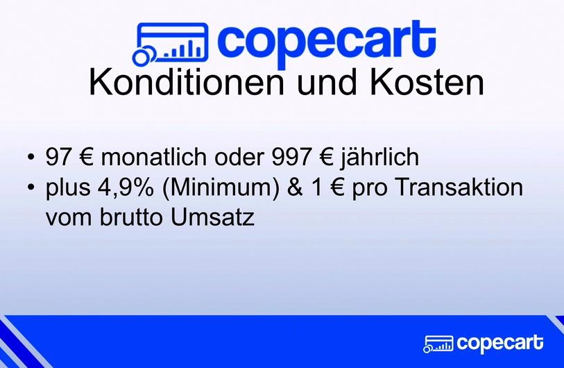 CopeCart Kosten